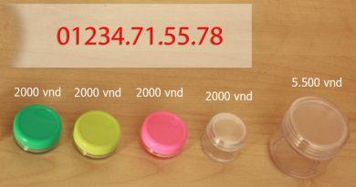 Hũ đựng kem, hũ đựng son handmade giá rẻ tại TPHCM