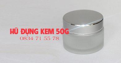Hũ đựng kem thủy tinh nắp bạc 50g